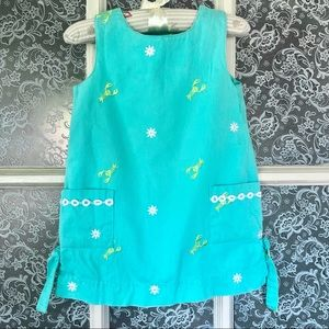 LILLY PULITZER Turquoise Shift Dress 4T